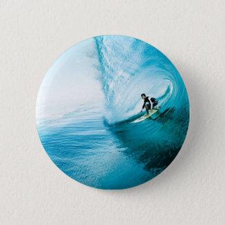 surf dude 6 cm round badge