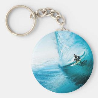 surf dude basic round button key ring