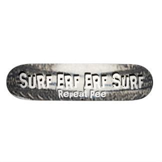 SURF ERF ERF SURF Repeat Pee 21.6 Cm Old School Skateboard Deck