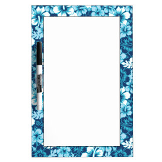 Surf Floral Hibiscus Pattern Dry Erase Board