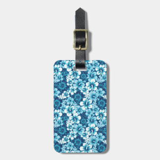 Surf Floral Hibiscus Pattern Luggage Tag