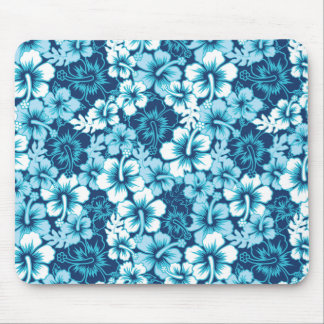 Surf Floral Hibiscus Pattern Mouse Mat