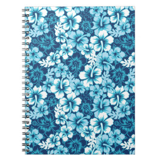 Surf Floral Hibiscus Pattern Notebooks