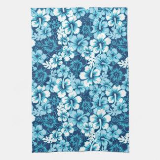 Surf Floral Hibiscus Pattern Tea Towel