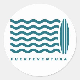 Surf Fuerteventura Classic Round Sticker