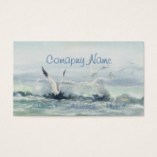 SURF GULLS & SEA by SHARON SHARPE Business Card