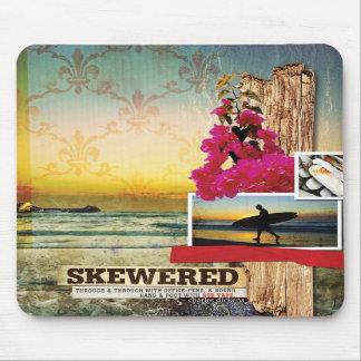 Surf Inspired Digital Art Collage Mousepad