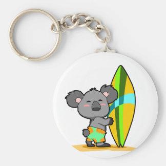 Surf Koala Bear Keychain