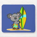 Surf Koala Bear Mousepad
