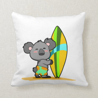 Surf Koala Bear Pillow
