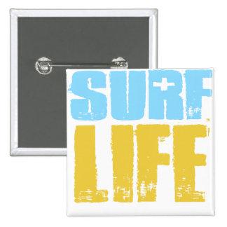 Surf Life Beach Surfer Style 15 Cm Square Badge