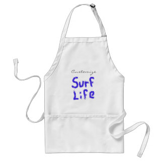 surf life spray-painted blue  on any color standard apron