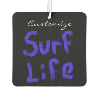 surf life spray-painted blue  on red