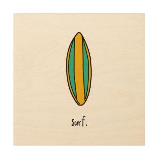 surf. longboard. surfboard. surf's up. wood print
