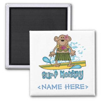 Surf Monkey (Girl) Magnets