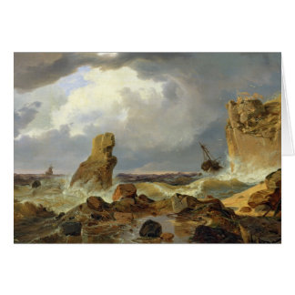 Surf on a Rocky Coast, 1835 Card