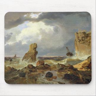 Surf on a Rocky Coast, 1835 Mouse Mat