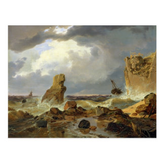Surf on a Rocky Coast, 1835 Postcard