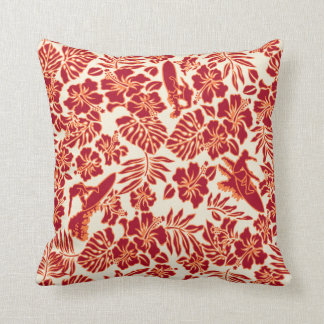 Surf Pareau Hawaiian Reversible Square Pillow