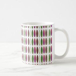 surf pattern . boards mug