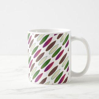 surf pattern . boards coffee mug