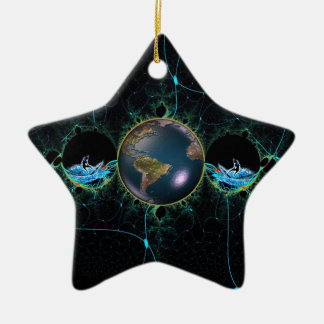 Surf Planet Ceramic Ornament