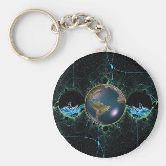 Surf Planet Keychain