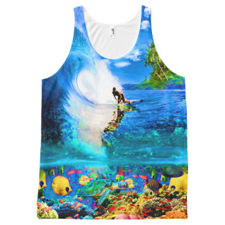 SURF REEF All-Over PRINT TANK TOP