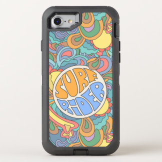 Surf Rider Pattern OtterBox Defender iPhone 8/7 Case