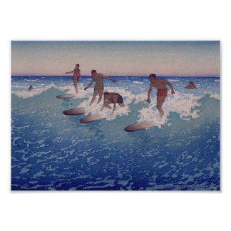'Surf-Riders, Honolulu' - Poster