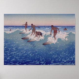 'Surf-Riders, Honolulu' - Poster