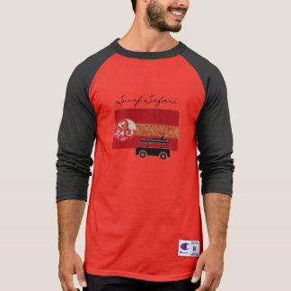 Surf Safari Red cool tee shirt for men