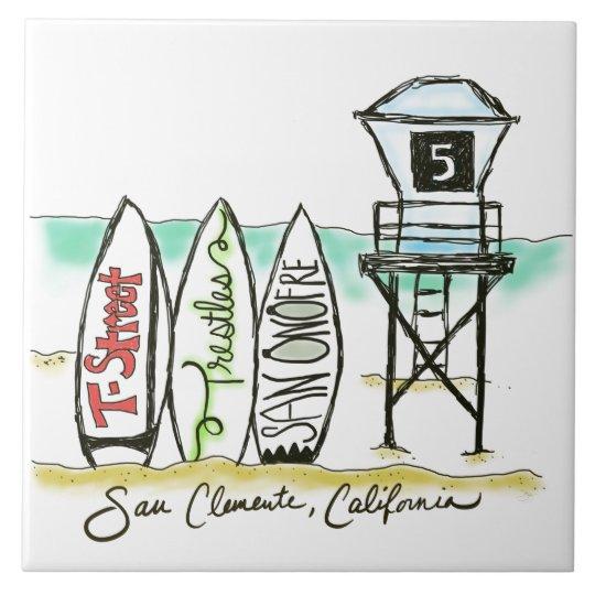 Surf San Clemente 6x6 Ceramic Tile