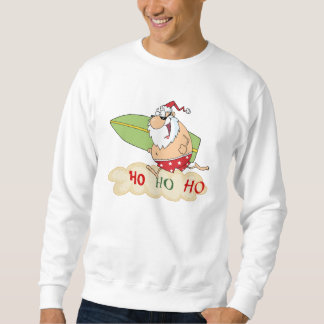 Surf Santa Beach Christmas Sweatshirt