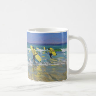 Surf School at St. Ives Coffee Mug
