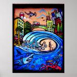 surf shack print