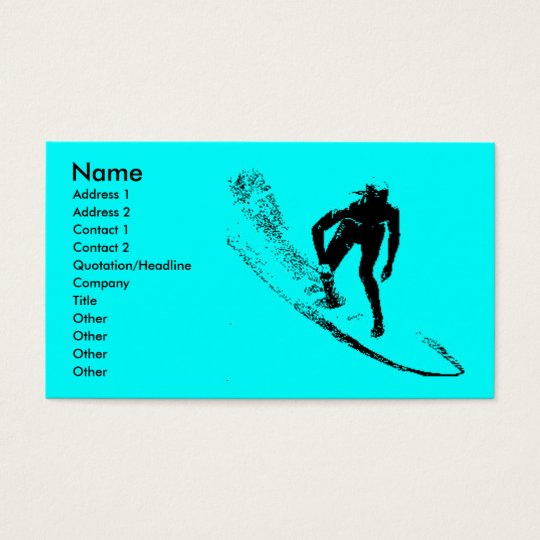 Surf Shop Business Pfofile Card