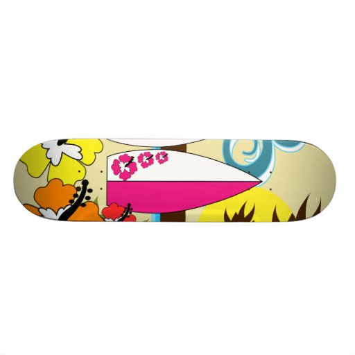 Surf Shop Surfing Ocean Beach Surfboards Palm Tree Skate Boards