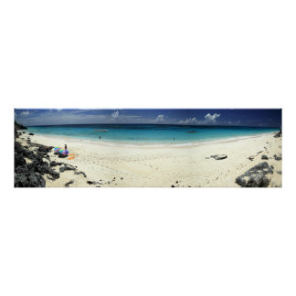 Surf Side Beach Panorama Poster