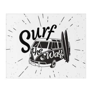 Surf The Wave Acrylic Print
