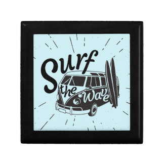 Surf The Wave Small Square Gift Box