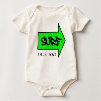 SURF THIS WAY BABY BODYSUIT