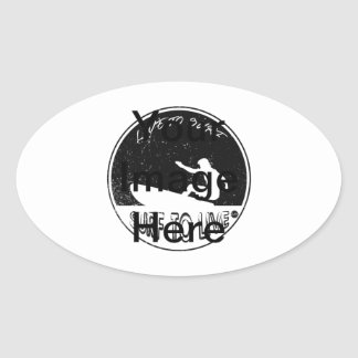 Surf To Live Oval Sticker