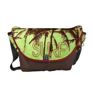 Surf - tropical palms courier bags