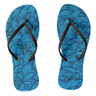 Surf Waves Flip Flops
