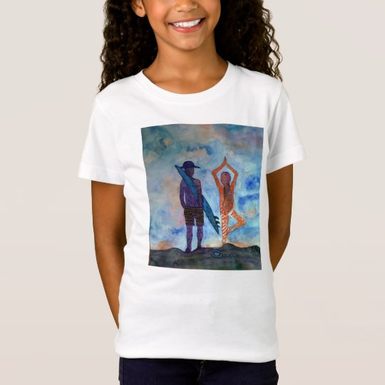 Surf Yoga Art Girls' Bella Fitted Babydoll T-Shirt