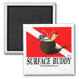Surface Buddy Square Magnet