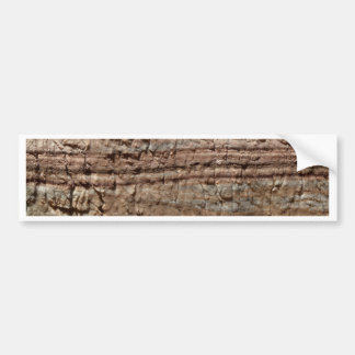 Surface of carbonate rock with weathering traces bumper sticker