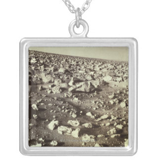 Surface of Mars Silver Plated Necklace