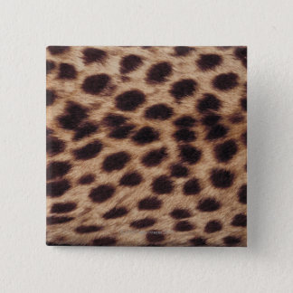 Surface of spotted feline 15 cm square badge